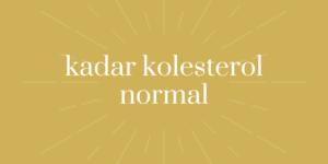 Kadar Kolesterol Normal