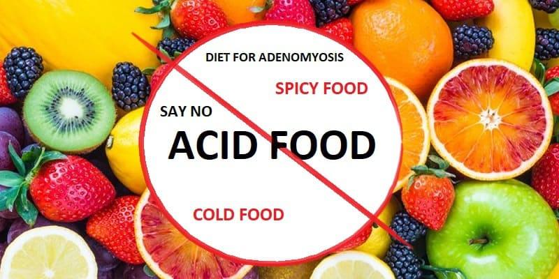 Pantangan Makanan Penyakit Adenomiosis (Adenomyosis)