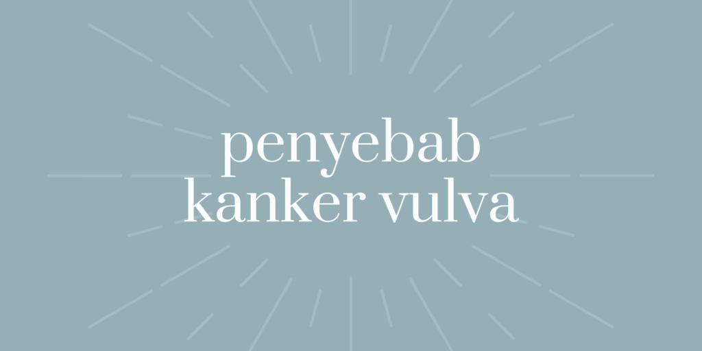 penyebab kanker vulva